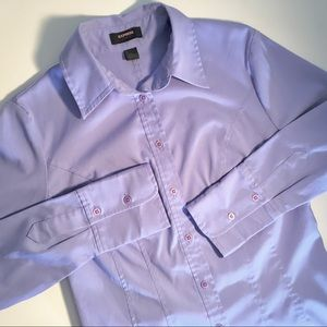 Express Stretch Periwinkle Blouse